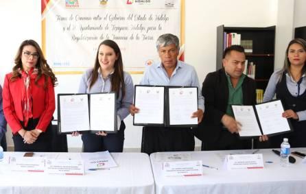 Ayuntamiento de Tizayuca y Gobierno del Estado firman convenio para la Regularización de la Tenencia de la Tierra1
