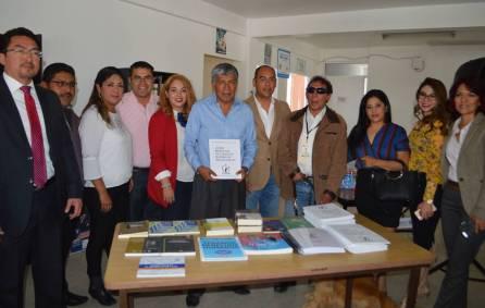 CDHEH entrega acervo bibliográfico en Braille a alcalde de Tizayuca1