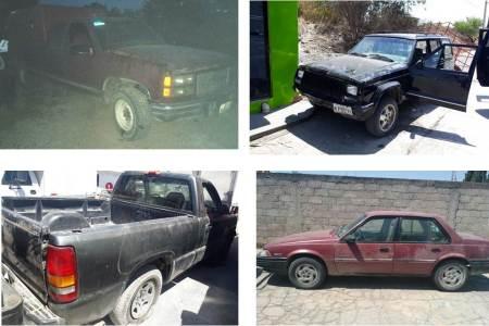 Cinco detenidos y siete vehículos asegurados en Chapantongo.jpg