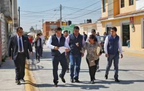 Entrega Mineral de la Reforma, pavimentación del 4
