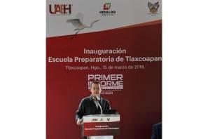 Escuela Preparatoria de Tlaxcoapan beneficiará a más de mil 600 jóvenes en 5 municipios