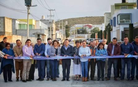 Inaugura Raúl Camacho ampliación de la red de drenaje pluvial en El Portezuelo 3