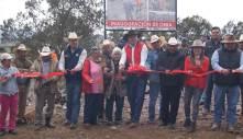 Inauguran obras en Vista Hermosa, Texcatzongo y en la cabecera municipal de Tepeapulco