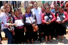 Con ceremonia indígena reciben a Nuvia Mayorga en Acaxochitlán4