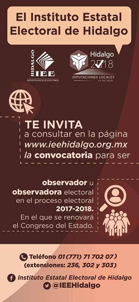 convocatoria observadores electorales 2018