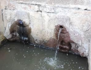 Dan mantenimiento y limpieza a histórico surtidor y caja de agua de Tepeapulco