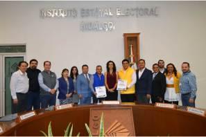 """IEEH recibe solicitud de registros de candidaturas a diputaciones locales del PRI, la Coalición Por Hidalgo al Frente"""", PT, MORENA, PES, PVEM Y MC.5"""