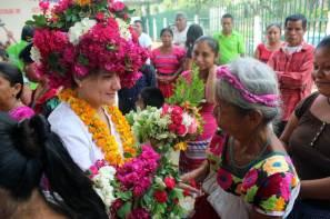 Inicia Sayonara Vargas recorridos por comunidades de la huasteca y la sierra