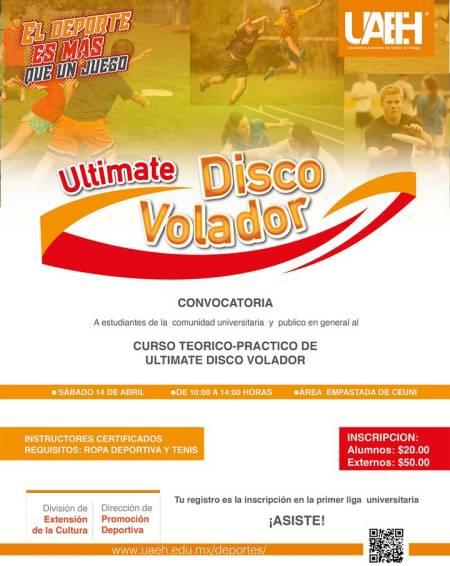 Llega Ultimate Frisbee a la Autónoma de Hidalgo