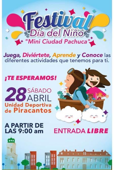 Preparan festival del Día del Niño en Unidad Deportiva de Piracantos