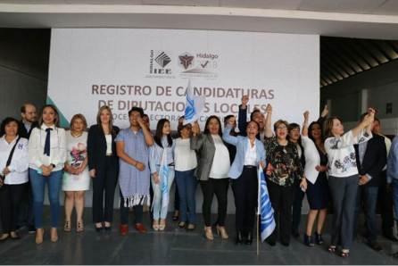 """Presentan ante el IEEH el registro de los candidatos a diputados locales de la coalición """"Por Hidalgo al Frente""""3"""