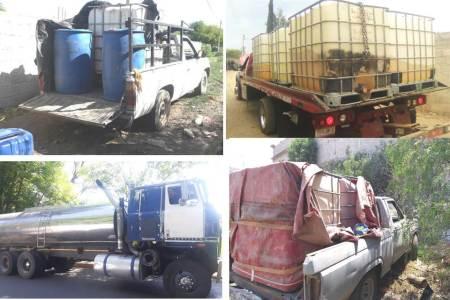 Recuperan en la zona poniente de Hidalgo, durante el último mes, 86 mil litros de hidrocarburo