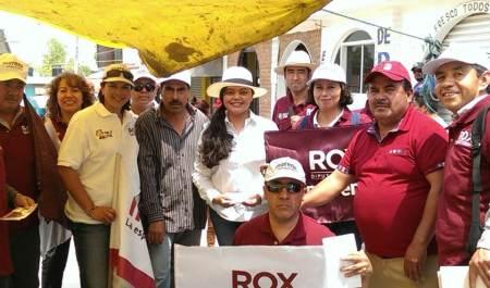 Rox Montealegre visita Azoyatla