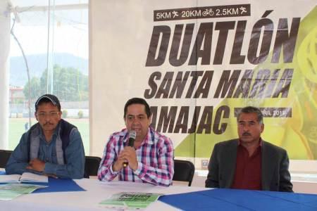 Santa María Amajac recibe la tercera fecha del Nacional de Duatlón