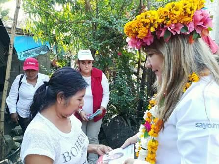 Sayonara Vargas visita comunidades rurales del municipio de Tlanchinol4