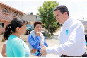 Sinuhé Ramírez recorre las calles de Singuilucan