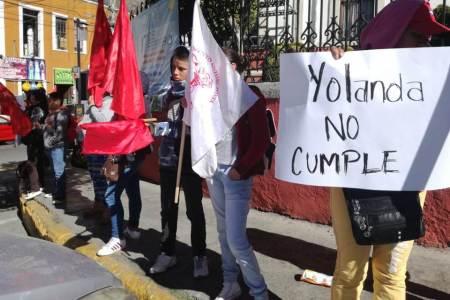 Alcaldesa de Pachuca se muestra prepotente ante peticiones de obra y plantón antorchista, asegura lideresa