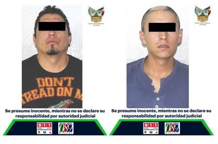 Aprehenden a un par de sujetos implicados en robo registrado en Tlapacoya