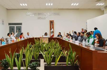 """Aprueban sustitución de candidaturas solicitadas por Morena, Encuentro Social y la Coalición """"Por Hidalgo al Frente"""