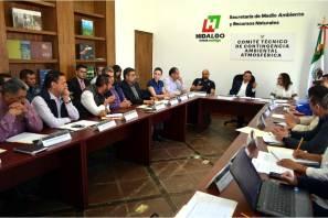 Autoridades continúan atentas y tomando medidas para aminorar efectos del incendio de un tiradero de basura ubicado en Mineral de la Reforma