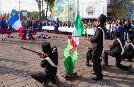 Conmemoran en Tizayuca CLVI aniversario de la Batalla de Puebla2