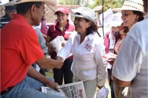 Durante recorrido en Pachuca y Zapotlan, Lidia García recibe el respaldo ciudadano