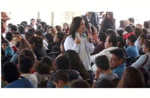 """""""El entusiasmo y los sueños de los jóvenes nos impulsan y comprometen"""", Nuvia Mayorga"""