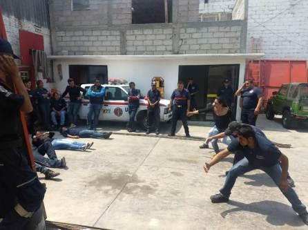 En Tizayuca capacitan en rescate y protección civil a estudiantes del Instituto Politécnico Nacional