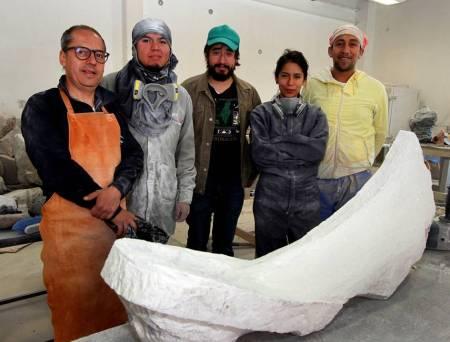Esculturas de alumnos del IDA se exhibirán en Palacio Municipal