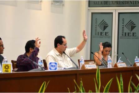 IEEH aprueba la sustitución de cinco candidaturas a diputados locales; tres de propietarios y dos suplentes4