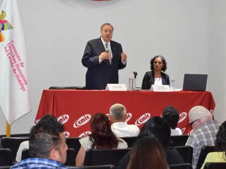 La comisión estatal y la nacional de derechos humanos capacitan a organizaciones de la sociedad civil de Hidalgo