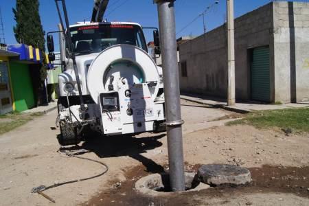 Realizan en Tepeapulco y Ciudad-Sahagún limpieza de alcantarillas para prevenir posibles contingencias ocasionadas por lluvias