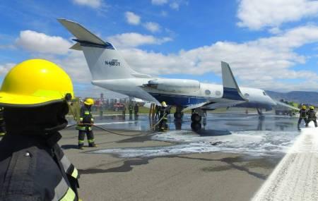 Realizan simulacro de accidente en pista de aeronave en el Aeropuerto Ing. Juan Guillermo Villasana de Pachuca1