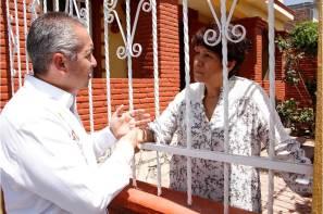 Recorre Sergio Baños Parque de Poblamiento, recibe muestras de apoyo