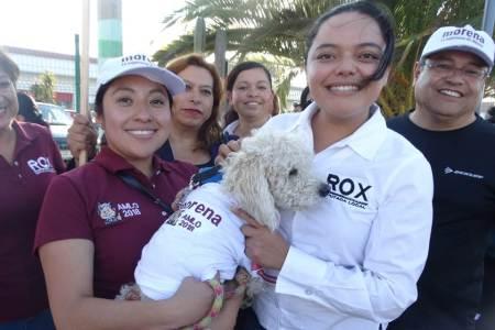 Rox Montealegre y Morena defienden derechos de los animales