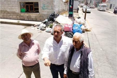 Sergio baños indicó que se debe atender de forma inmediata el problema de la basura en las calles de Pachuca2