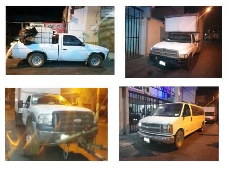 Aseguran cuatro vehículos presuntamente para el transporte de combustible ilegal