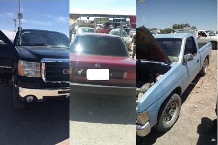 Aseguran tres vehículos de ilegal procedencia en tianguis de Actopan