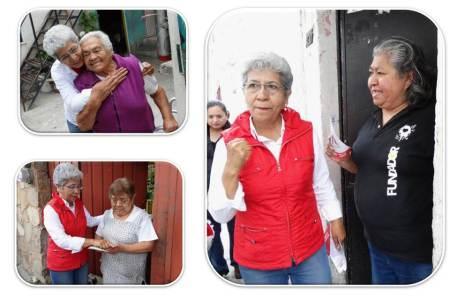 Asegurar por ley, digna vejez, ofrece Paquita Ramírez