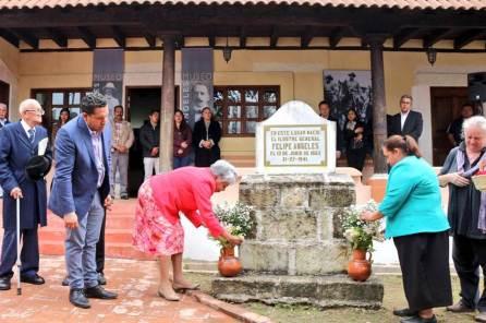 Celebran 150 aniversario del natalicio de Felipe Ángeles en casa museo de Zacualtipán