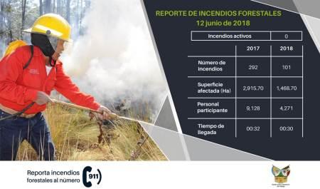 En lo que va del 2018 más de 100 incendios registra Hidalgo