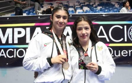 Lucha femenil cierra Olimpiada Nacional con oro y plata
