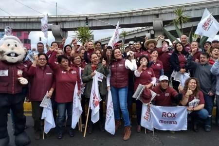 Propuesta de AMLO para encabezar Sedesol hace campaña con Rox Montealegre