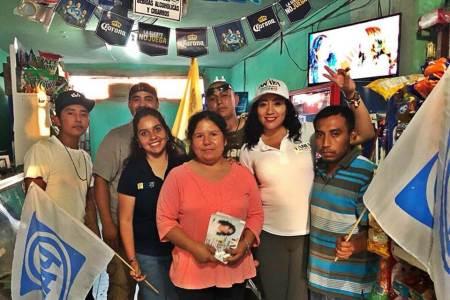 Tania Maurén se compromete a dar seguimiento del trabajo en municipios gestionando recursos y ayudar a la gente