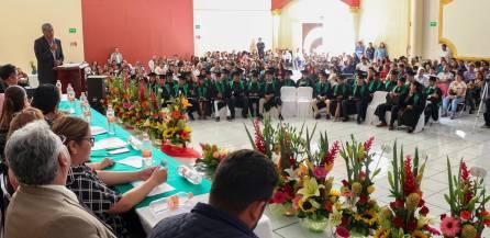 Asiste Gabriel García Rojas a graduación de la primera generación COBAEH CEMSAD plantel Tepojaco5