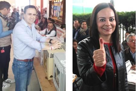 Candidatos del PRI al senado, Nuvia Mayorga y Alex González ejercen su derecho al voto