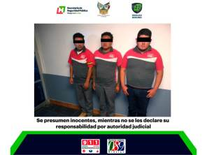 Con apoyo videovigilancia y policías, detienen en Tizayuca a probables delincuentes