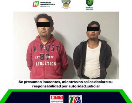 Detienen en Actopan a un par de individuos por presunto robo de ganado