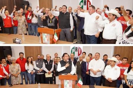 Dirigencia del PRI en Hidalgo fija un posicionamiento de unidad2