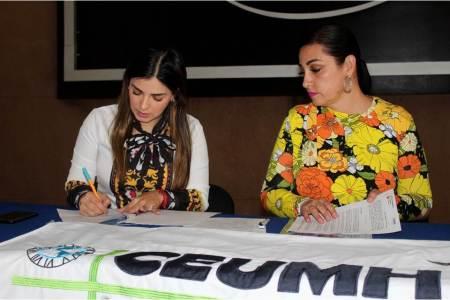 Firman convenio de colaboración INHIDE y CEUMH